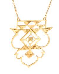 Zoe & Morgan | Metallic Zoe Morgan Tribal Shield Necklace | Lyst