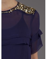 By Malene Birger | Blue Ansara Sequin Shoulder Top | Lyst