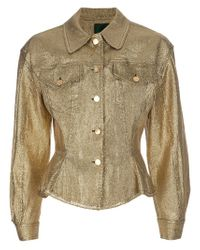 Jean Paul Gaultier | Yellow Metallic Gold Jacket | Lyst