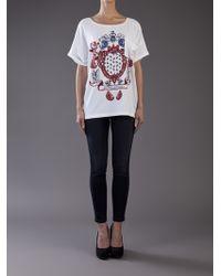 Balmain - White Short Sleeve Shirt - Lyst