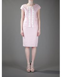 Valentino - Pink Pencil Skirt - Lyst