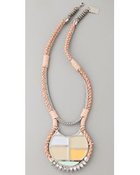 Lizzie Fortunato | Metallic The Crystal Mondrian Necklace | Lyst