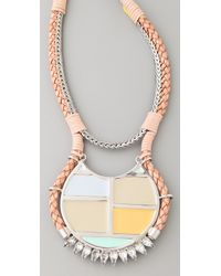 Lizzie Fortunato - Metallic The Crystal Mondrian Necklace - Lyst