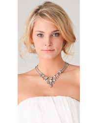 Tom Binns - White Madame Dumont Small Crystal Necklace - Lyst