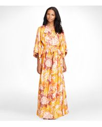 Tory Burch | Multicolor 'antiquity' V Neck Wide Sleeve Maxi Dress | Lyst