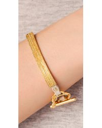 Gorjana | Metallic Graham Leather Bar Bracelet | Lyst
