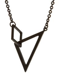 Cheap Monday - Black Geometry Necklace Exclusive To Asos for Men - Lyst