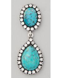DANNIJO - Blue Cash Earrings - Lyst