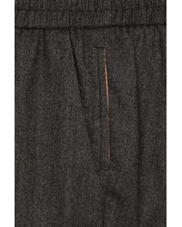 Maje | Gray Hutch Tapered Wool-blend Pants | Lyst