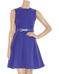 Preen By Thornton Bregazzi - Blue Grace Pleated Stretch-crepe Dress - Lyst