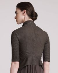 Rick Owens - Brown Cropped Leather Jacket - Lyst