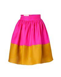 ROKSANDA | Hot Pink and Mustard Silk Organza Full Skirt | Lyst