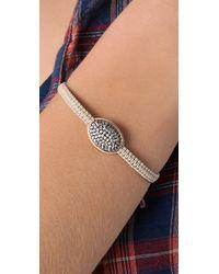 Tai | Metallic Vintage Oval Charm Bracelet | Lyst