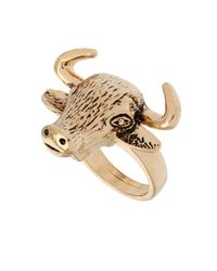 TOPSHOP | Metallic Bull Ring | Lyst