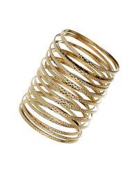 TOPSHOP | Metallic Spring Cuff Bracelet | Lyst