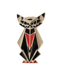 TOPSHOP - Metallic Unique Egyptian Cat Brooch - Lyst