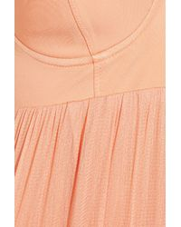Willow | Pink Stretch Silk and Tulle Maxi Dress | Lyst