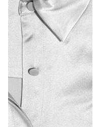 Alexander Wang - Metallic Ribboned Silk Blouse - Lyst