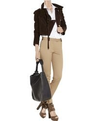 Alexander Wang Brown Stirrup Pant with Leather Detail