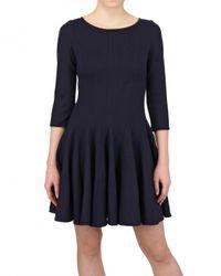 Issa | Blue Wool Skater Dress | Lyst
