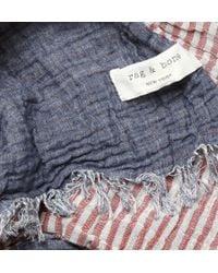 Rag & Bone - Blue Sasha Creased Cotton Chambray Scarf for Men - Lyst