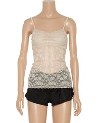 Top Secret | Natural Double Agent Stretchlace Camisole | Lyst