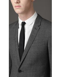Burberry - Gray Slim Fit Wool Suit for Men - Lyst