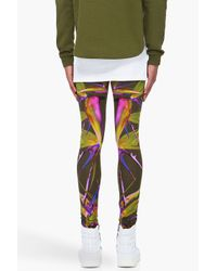 Givenchy | Green Birds Of Paradise Jersey Leggings/ Trous for Men | Lyst