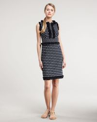 Tory Burch | Blue Evelyn Polkadot Dress | Lyst