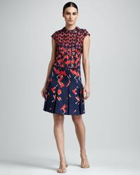 Tory Burch   Blue Truman Silk Dress   Lyst