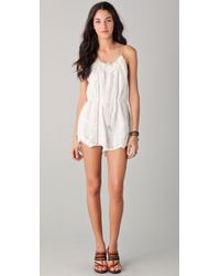 23ed17da424 Zimmermann Devoted Lace Playsuit in White - Lyst