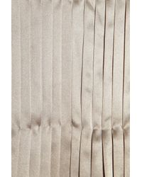 Day Birger et Mikkelsen - Natural Martini Pleated Silk-sateen Top - Lyst