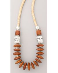 Theodora & Callum - Brown Safari Necklace - Lyst