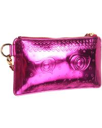Vivienne Westwood - Metallic Pink Greek Eyes Purse - Lyst