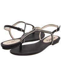 Kors by Michael Kors | Black Kors Sandals Zanna Flat | Lyst
