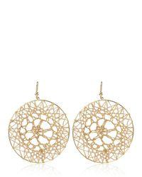 Carolina Bucci | Metallic Mirador Crochet Sun Design Earrings | Lyst