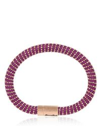 Carolina Bucci | Purple Twister Silver and Silk Bracelet | Lyst