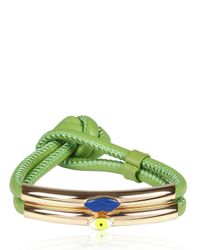 Delfina Delettrez | Green Mouth and Eye Bracelet | Lyst