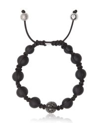 Shamballa Jewels - Black Onyx Black Diamond Bead Bracelet - Lyst
