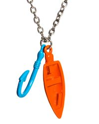 ASOS - Multicolor Asos Bright Boat and Fishhook Pendant Necklace for Men - Lyst