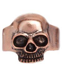 ASOS - Metallic Asos Battered Skull Ring for Men - Lyst