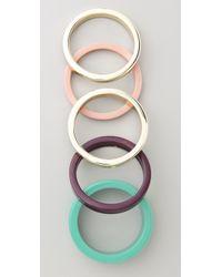By Malene Birger - Green Color Repetition Cirkella Bracelets - Lyst