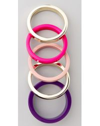 By Malene Birger | Purple Color Repetition Cirkella Bracelets | Lyst