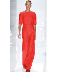 Derek Lam | Orange Crepe-Cady Jumpsuit | Lyst