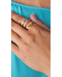 Noir Jewelry - Metallic Sword Wrap Around Ring - Lyst