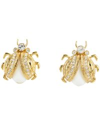kate spade new york | Metallic Caledonia Bug Stud Earrings | Lyst