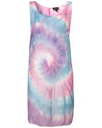 TOPSHOP | Blue Tie Dye Split Cover Up | Lyst