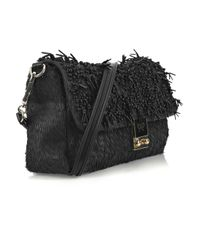 Anya Hindmarch | Black Carker Fringed Leather Cross-body Bag | Lyst