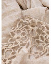 Faliero Sarti | Beige Embroidered Scarf | Lyst