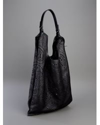 Jil Sander | Black Paisley Shopper Bag | Lyst